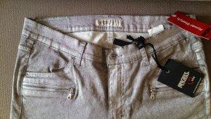 Silberfarbene Powerstretch Jeans von Angels