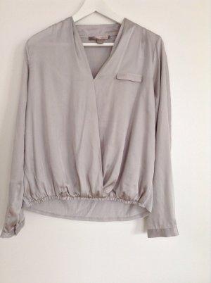 Silberfarbene schicke Bluse