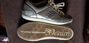 online retailer de69f 2691f Tom Tailor Lace-Up Sneaker silver-colored