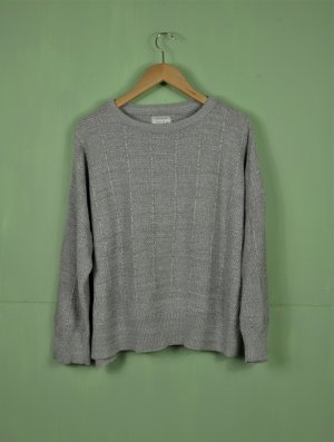 Pull & Bear Coarse Knitted Sweater silver-colored-light grey