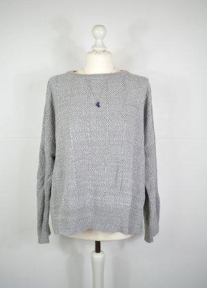 Silberfarbener Pullover Pull&Bear mit Streifen