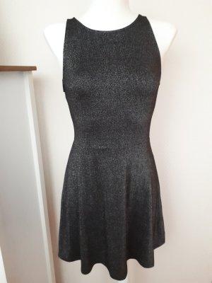 Silberfarbenes Kleid aus Stretchstoff, XS, H&M