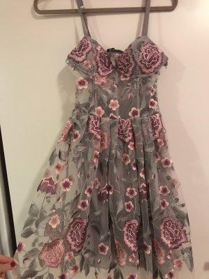 Bik Bok Mini Dress silver-colored-pink