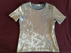 Silberfarbenes Vintage Glitzer T-Shirt von Betty Barclay *L*