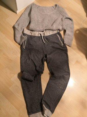 silberfarbiger Lurex- Wollpulli Gr.36  plus Jogginghose von Helene Fischer 36/38
