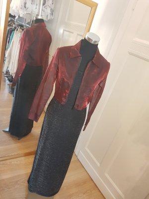 silberglänzendes Abendkleid mit aufregendem Rückendekolleté, Gr. M