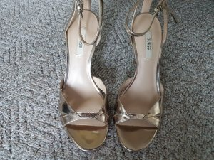Silbergoldene Sandaletten von GUESS