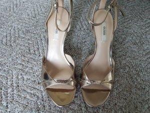 Guess Sandalias de tacón alto color plata Cuero