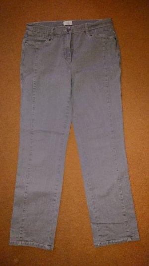 Paola! Pantalon taille haute argenté-gris clair