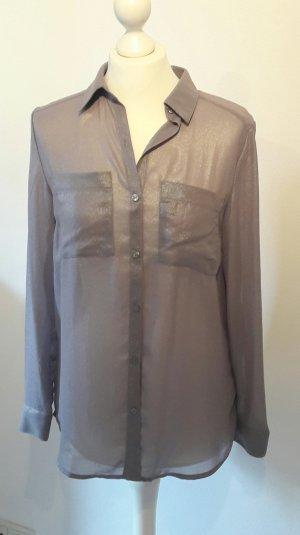 Silbergraue leichte Bluse