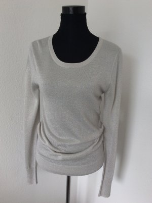 Blacky Dress Knitted Sweater silver-colored-white