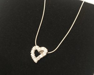 Silberkette (925) mit Herzanhänger - NEU!!
