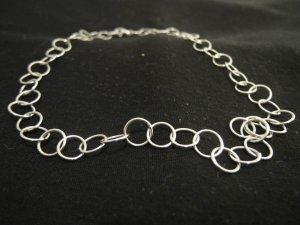Silberkette aus Ringen