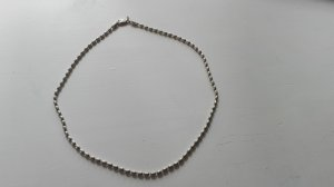 Necklace silver-colored real silver