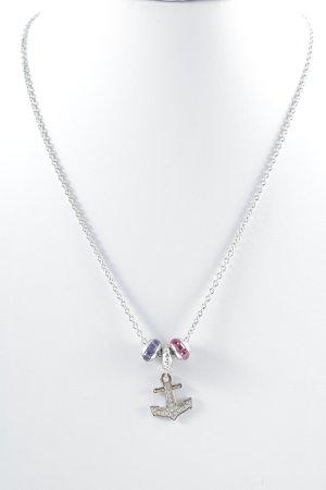 Catena d'argento multicolore stile casual