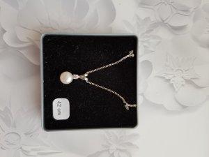 Silberkette mit einer Perle (42cm)