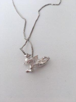 Silberkette mit Engelanhänger
