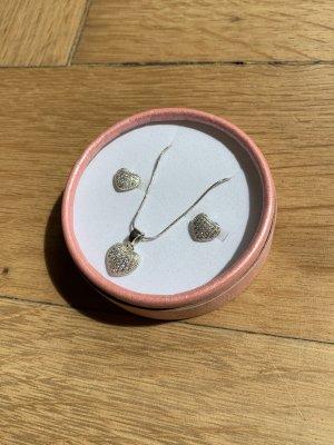 Silberkette mit Ohrringen