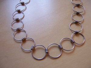 Silberkette mit Ringen (Erbstück)