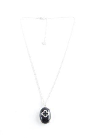 Silver Chain silver-colored-black elegant