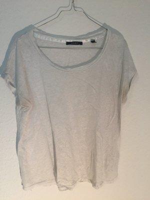 Silbern schimmerndes Shirt von Esprit aus Leinen