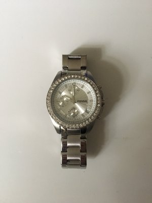 Silberne Armbanduhr Fossil