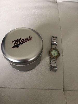 Silberne Armbanduhr / Uhr von Maui Wowie