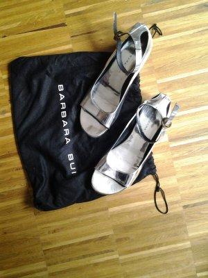 Silberne Ballerinas von Barbara Bui