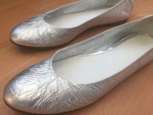 Silberne Ballerinas von Maison Martin Margiela