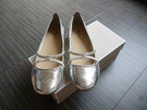 Silberne Ballerinas von Tamaris