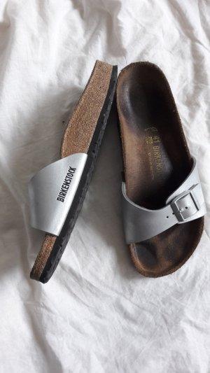 Birkenstock Comfortabele sandalen lichtgrijs Katoen