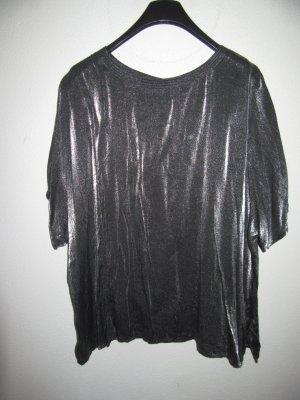 Silberne Bluse T-Shirt Ulla Popken
