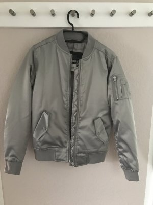 Urban Classics Bomber Jacket silver-colored