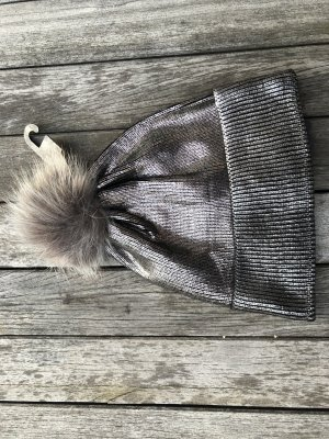 Bijou Brigitte Chapeau en tricot argenté-gris clair