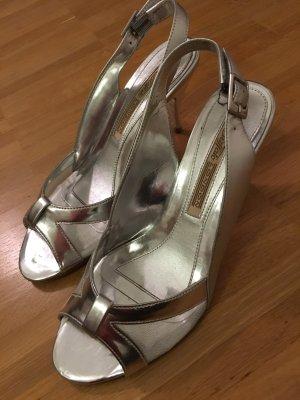 Silberne Buffalo Sandalen mit Transparenteinsatz