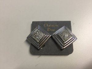 Christian Dior Pendientes de clip color plata metal
