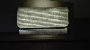 H&M Bolso de mano color plata polipropileno