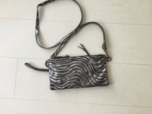 Mini Bag silver-colored-light grey leather