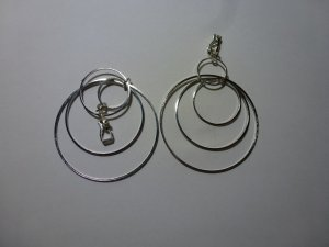 Earclip silver-colored real silver