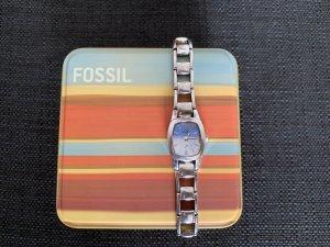 Fossil Montre avec bracelet métallique argenté-bleu azur