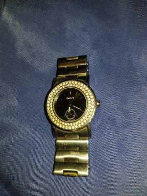 Silberne DKNY Uhr mit Strass