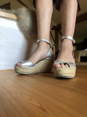 Sandales à plateforme argenté