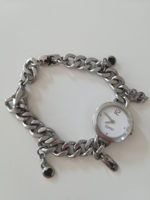 Esprit Horloge met metalen riempje wit-zilver