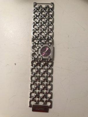 Silberne Esprit Uhr