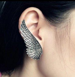 Silberne Flügel - Ohrklips