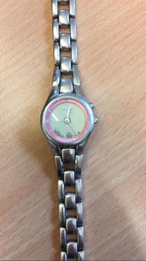 Silberne Fossil - Uhr