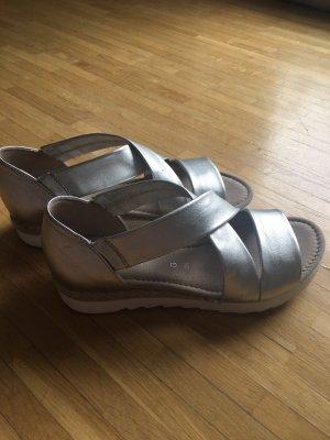 Gabor Sandalo con cinturino argento Pelle