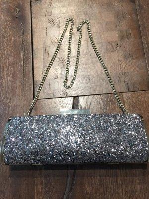 Silberne Glitzer Handtasche Clutch von Lipsy