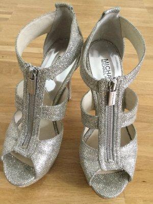 Silberne Glitzer High Heels von Michael Kors
