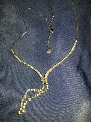 Silberne glitzernde Halskette